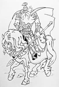 богатырь на лошади