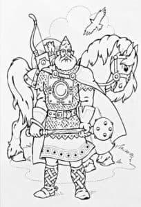 царь с конем