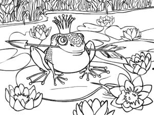 царевна лягушка раскраска