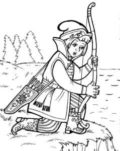 иван царевич раскраска для детей
