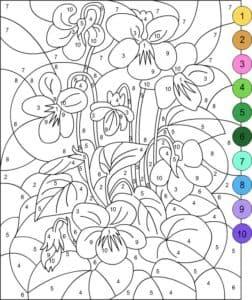 цифры цветы