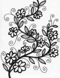 цветы с узора