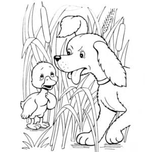 собака и гадкий утенок