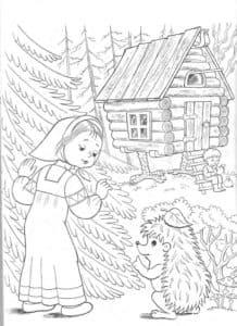 ежик и девочка