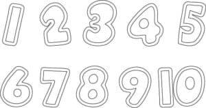 Цифры шаблон