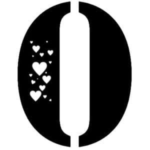 0 с сердечками