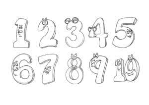 цифры с глазками