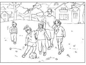 дети с мячом