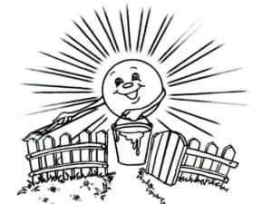 июль и солнце