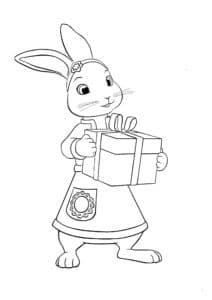 кролик с подарком