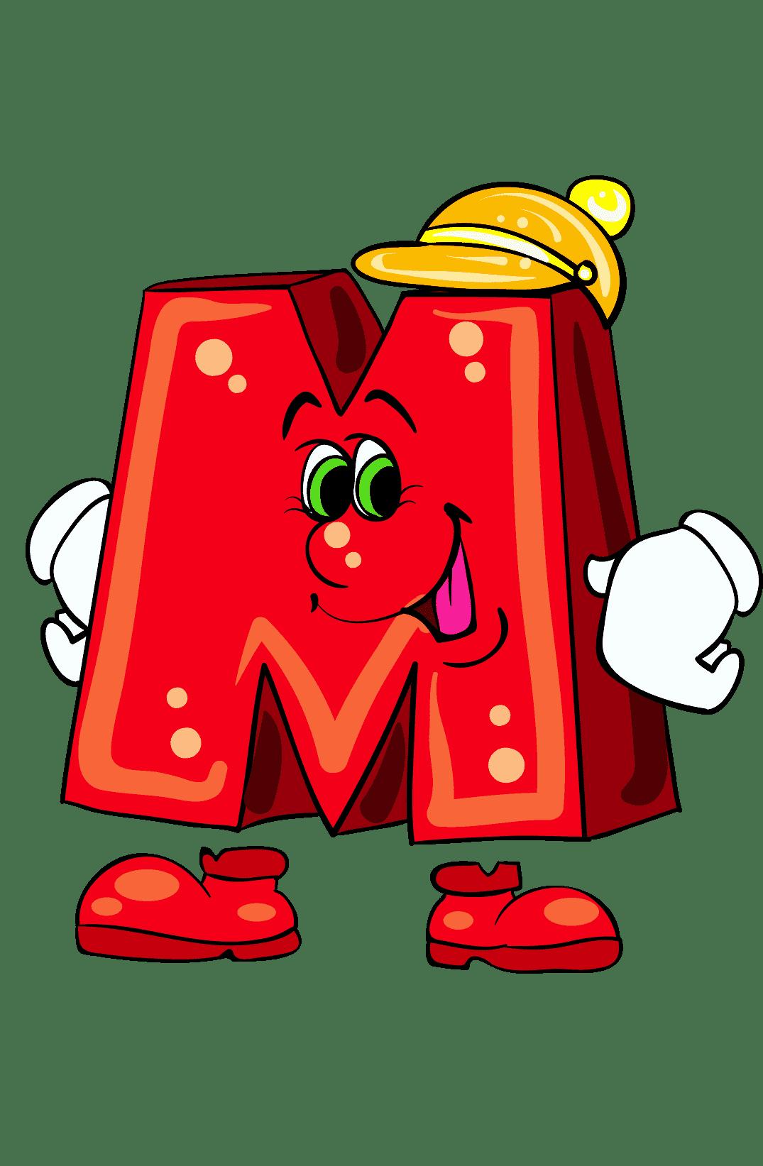 Раскраска Буква М