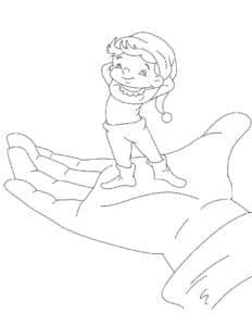 мальчик с пальчик на руке