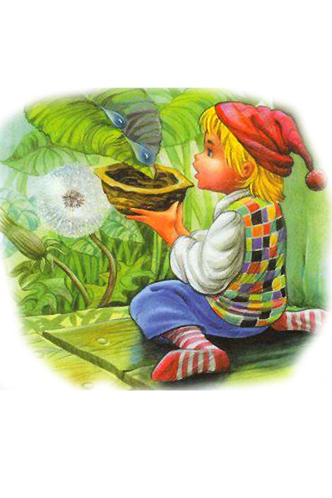 Раскраска Мальчик с пальчик