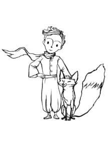 мальчик и лиса раскраска