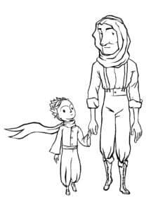 дядя и девочка