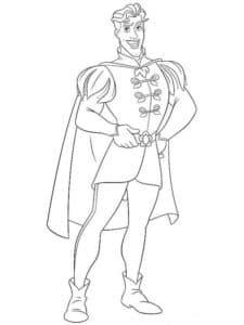 принц раскраска для детей