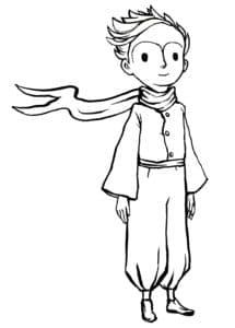 маленький принц с шарфом