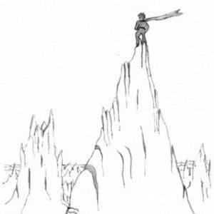 мальчик на горе
