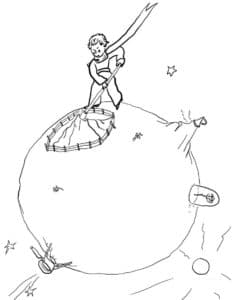 маленький принц на шаре