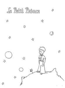 маленький принц раскраска