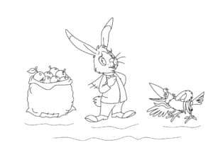 заяц и ворона