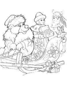 медведь и снегурочка
