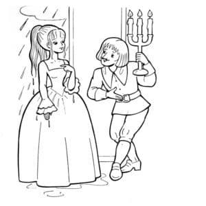 принц с принцессой картинка
