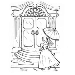 принцесса на горошине раскраска для детей