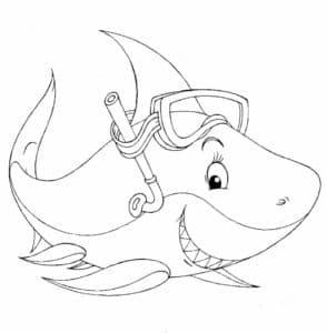 акула с маской