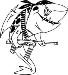 акула с автоматом