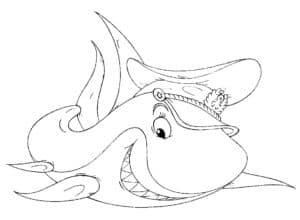 акула в фуражке