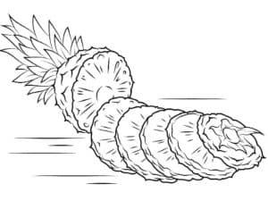 дольки ананаса раскраска