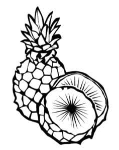 раскраска детская ананас
