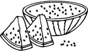 раскраска для детей арбуз