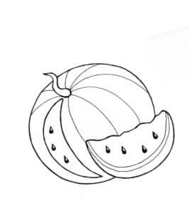 арбуз и долька