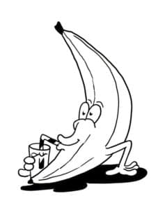 банан с коктейлем