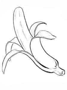 банан почищенный раскраска