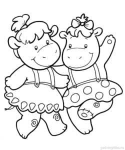девочки бегемоты