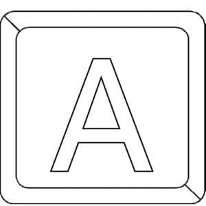 Буква А в квадратике