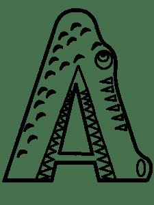 Буква А крокодил