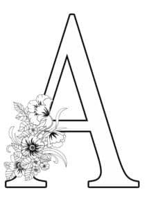 А с цветочками