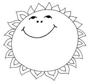 солнышко детская раскраска