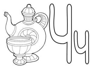 чайник и чашка буква Ч