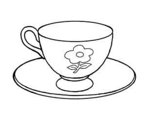 чашка с цветочком