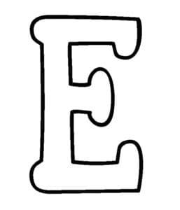 большая буква Е