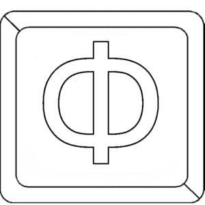 Буква Ф в квадратике