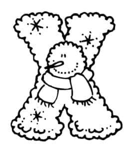 Буква Х и снеговик