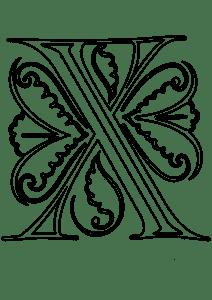 Буква Х с узорами