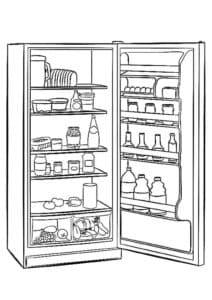 Холодильник раскраска