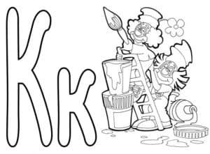 Раскраска для детей буквы К